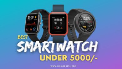 Best smartwatch under 5000 in India