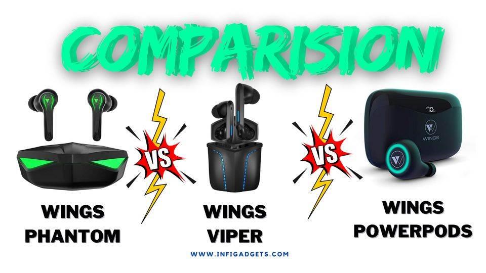 Wings PowerPods vs Wings Phantom vs Wings Viper: Specs, Price Sound Quality Comparison